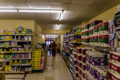 Supermarket Interior Royalty Free Stock Images