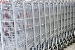 Supermarket karts Stock Photography