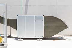 Supermarket large air ventilation system. Stock Photo