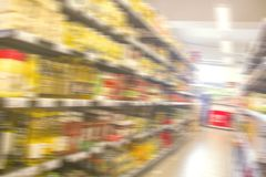 Supermarket motion blur background Royalty Free Stock Photo