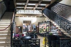 Supermarket in the old theater `Italia` in the street called `Rio Tera de la Maddalenai` Stock Photo
