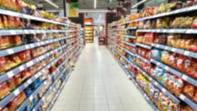 Supermarket out of focus Royalty Free Stock Photos