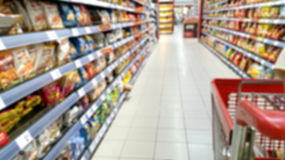 Supermarket out of focus Stock Photos