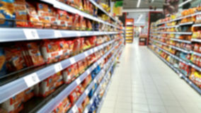 Supermarket out of focus Royalty Free Stock Image
