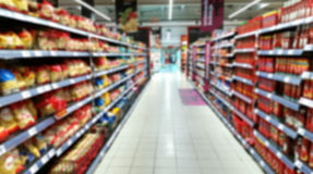 Supermarket out of focus Stock Images