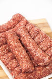 Supermarket package of turkish kebabs with minced meat Stock Image
