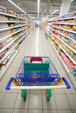 Supermarket perspective Royalty Free Stock Photo