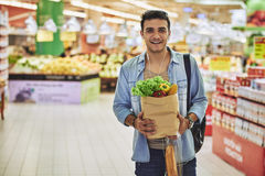 In supermarket royalty free stock photo