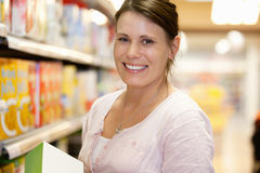 Supermarket Portrait Woman Stock Image