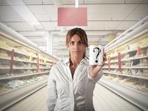 Supermarket question Royalty Free Stock Photos