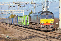 Supermarket rail freight train Royalty Free Stock Image