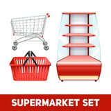 Supermarket Realistic Set Royalty Free Stock Image
