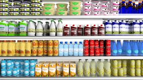 Supermarket refrigerator Royalty Free Stock Photography