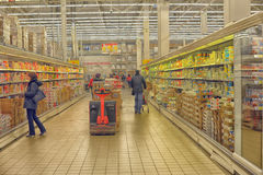 Supermarket in Russia Royalty Free Stock Photography