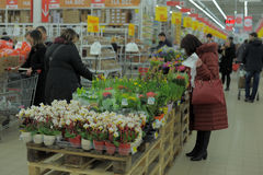 Supermarket in Russia Royalty Free Stock Image