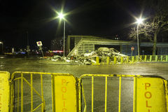 Supermarket's roof collapsed in Riga, Latvia, Europe Stock Image