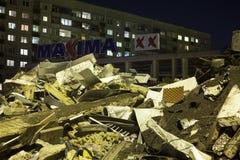 Supermarket's roof collapsed in Riga, Latvia, Europe Stock Photos