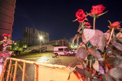 Supermarket's roof collapsed in Riga, Latvia, Europe Royalty Free Stock Image