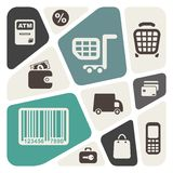 Supermarket services design Royalty Free Stock Photo