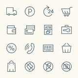 Supermarket services icons Stock Photography