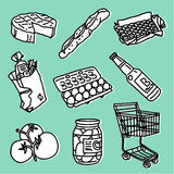 Supermarket set Royalty Free Stock Images