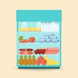 Supermarket Shelf Flat Stock Photography