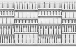 Supermarket Shelf With Generic Products royalty free illustration
