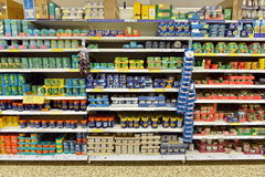 Supermarket Shelf View Stock Images