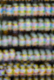 Supermarket shelfs blured background Stock Photos