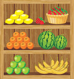 Supermarket. Shelfs with food Royalty Free Stock Image