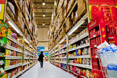Supermarket shelves. Eastphoto, tukuchina, Supermarket shelves, Indoor Environment Stock Photo
