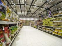 Supermarket Shelves Royalty Free Stock Images