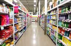Supermarket Shelves. A view of FreshCo supermarket shelves in Toronto, Ontario, Canada Stock Photography