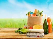 Supermarket. Shop interior bag design food market stock photography