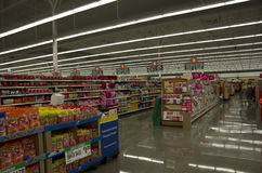 Supermarket shop store lighting. Bright lighting at Winco Foods near Seattle Royalty Free Stock Photos