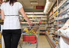 Supermarket Shopper stock photography