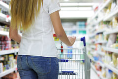 Supermarket Shopper Royalty Free Stock Images