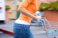 Supermarket Shopper Stock Photos