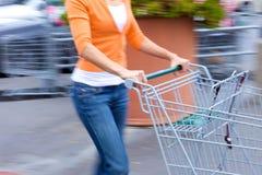 Supermarket Shopper royalty free stock image