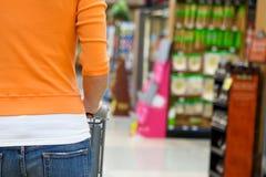 Supermarket Shopper stock photos