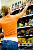 Supermarket Shopper royalty free stock photo