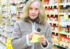 Supermarket shopper. Royalty Free Stock Photography