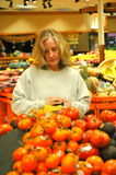 Supermarket shopper. Royalty Free Stock Image