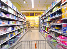 Supermarket shopping Stock Images