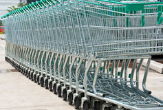 Supermarket shopping cart Stock Images