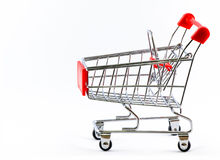 supermarket shopping cart Royalty Free Stock Images