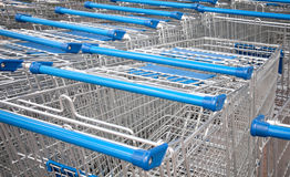 Supermarket shopping carts Royalty Free Stock Photography