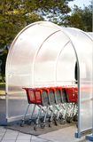 Supermarket shopping carts parking in street Stock Photo