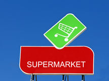 Supermarket Sign Royalty Free Stock Photo
