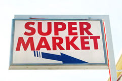 Supermarket signboard Stock Photo